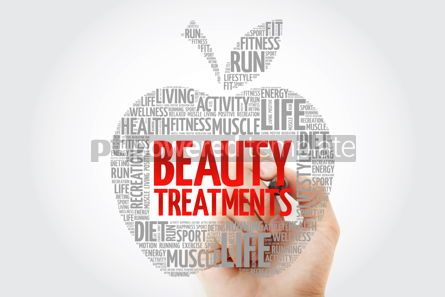 Health: Beauty Treatments apple word cloud with marker health concept #10461