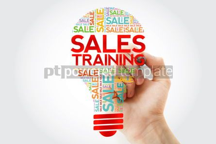 Business: Sales Training bulb word cloud with marker business concept bac #10487