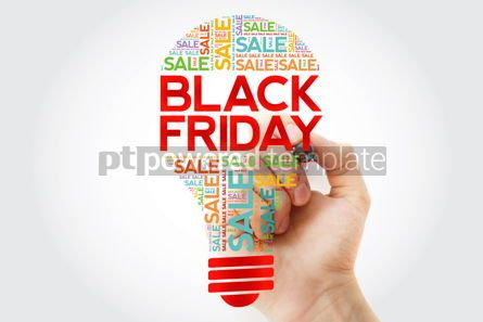 Business: Black Friday SALE bulb word cloud with marker business concept  #10498