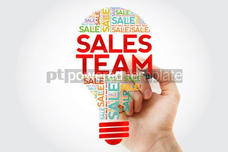 Business: Sales Team bulb word cloud with marker business concept backgro #10501