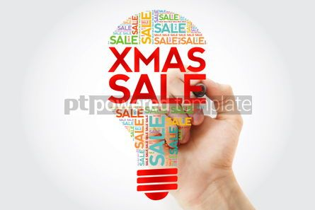 Business: XMAS SALE bulb word cloud with marker business concept backgrou #10503