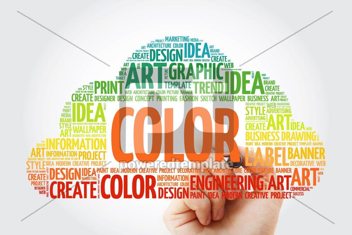 COLOR word cloud with marker creative business concept backgrou, 10508, Business — PoweredTemplate.com