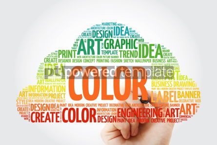 Business: COLOR word cloud with marker creative business concept backgrou #10508