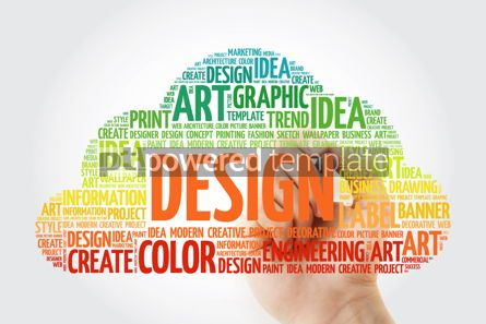 Business: DESIGN word cloud with marker creative business concept #10509