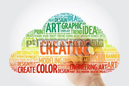 Business: CREATIVE word cloud with marker business concept #10510