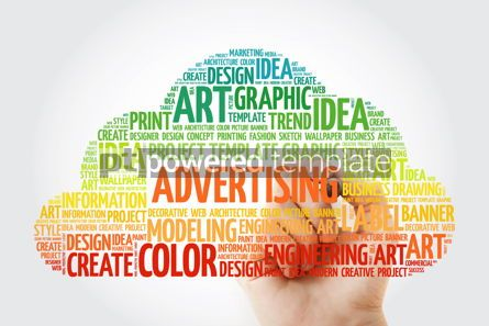 Business: ADVERTISING word cloud with marker business concept #10512