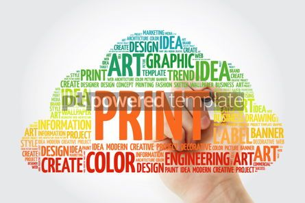 Business: PRINT word cloud with marker creative business concept backgrou #10513