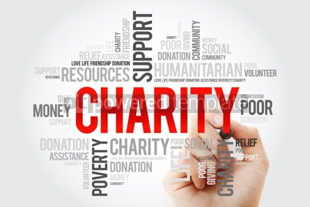 Business: Charity word cloud collage with marker business concept backgro #10515