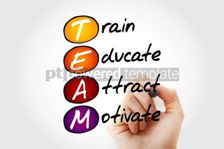 Business: TEAM - Train Educate Attract Motivate acronym business conce #10522