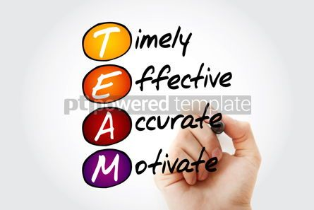 Business: TEAM - Timely Effective Accurate Motivate acronym business c #10523