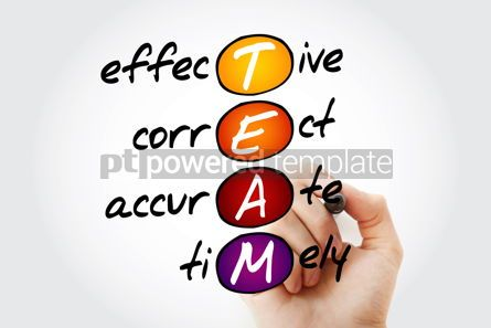 Business: TEAM - Effective Correct Accurate Timely acronym business co #10525
