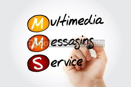 Education: MMS - Multimedia Messaging Service with marker acronym technolo #10527