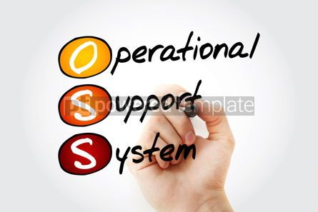 Education: OSS - Operational support system acronym with marker technology #10528