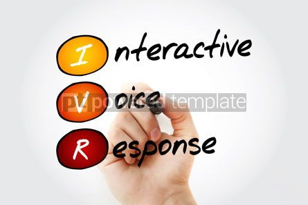 Education: IVR - Interactive Voice Response acronym business concept with  #10529