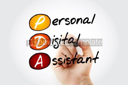 Education: PDA - Personal Digital Assistant acronym with marker technology #10531