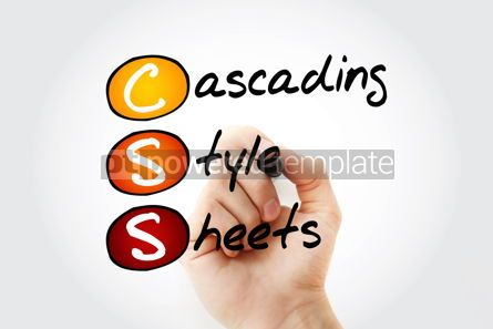 Education: CSS - Cascading Style Sheets acronym with marker technology con #10532