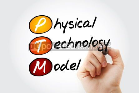 Education: PTM - Physical Technology Model acronym concept with marker #10534