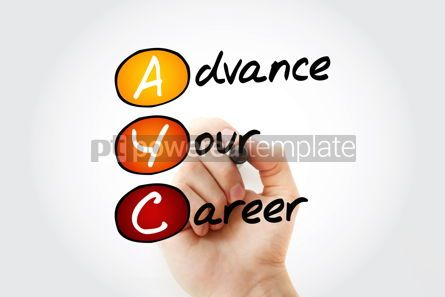 Business: AYC - Advance Your Career acronym with matker background conce #10536
