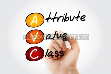 Business: AVC - Attribute Value Class acronym with marker concept backgro #10539