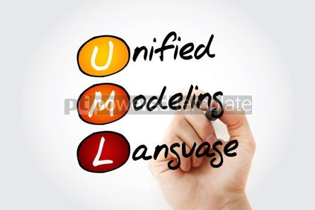 Education: Hand writing UML - Unified Modeling Language acronym with marker #10543