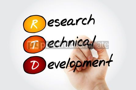 Education: RTD - Research Technical Development acronym with marker concep #10545