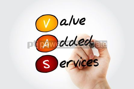 Education: Hand writing VAS - Value Added Services acronym with marker con #10546