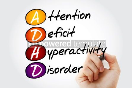 Education: ADHD - Attention Deficit Hyperactivity Disorder acronym with ma #10552