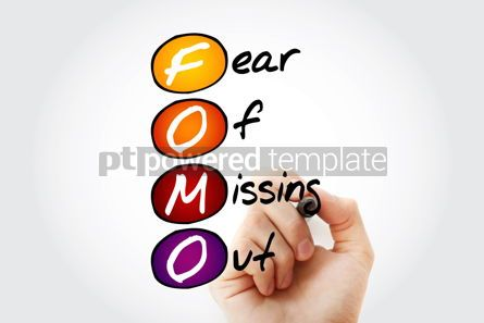 Education: FOMO - Fear Of Missing Out acronym with marker concept backgro #10553