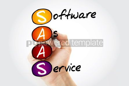 Education: SAAS - Software As A Service acronym with marker business conc #10554