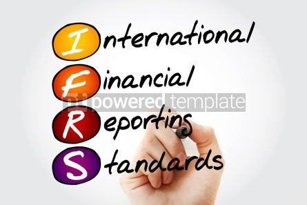 Business: IFRS - International Financial Reporting Standards acronym with #10556