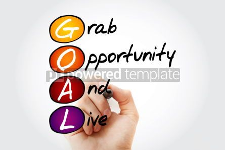 Business: GOAL - Grab Opportunity And Live acronym with marker business  #10560