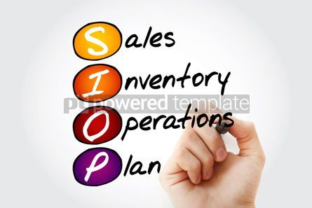 Business: Hand writing SIOP - Sales Inventory Operations Plan acronym with #10566
