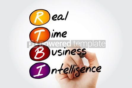 Business: Hand writing RTBI - Real Time Business Intelligence with marker #10571