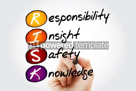 Business: RISK - Responsibility Insight Safety Knowledge acronym with mar #10572