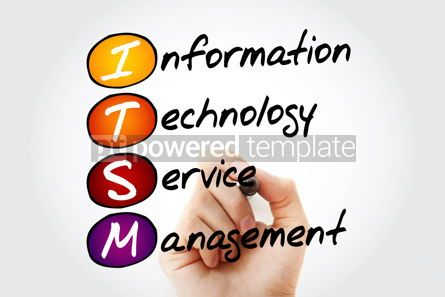 Business: Hand writing ITSM - Information Technology Service Management wi #10575