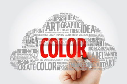 Business: COLOR word cloud with marker creative business concept backgrou #10576