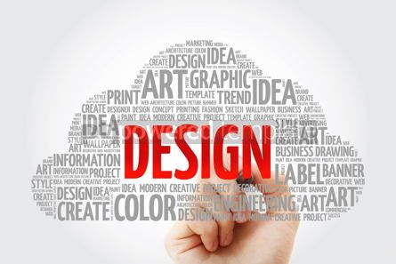 Business: DESIGN word cloud with marker creative business concept backgro #10579