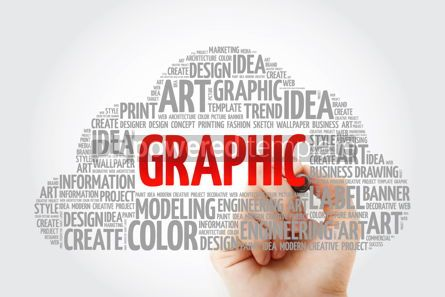 Business: GRAPHIC word cloud with marker creative business concept backgr #10580