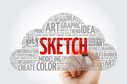 Business: SKETCH word cloud with marker creative business concept backgro #10582