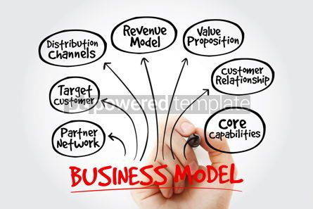 Business: Hand writing Business models with marker business concept strat #10585
