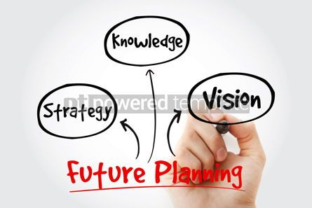 Business: Hand writing with marker Future planning (knowledge strategy v #10648