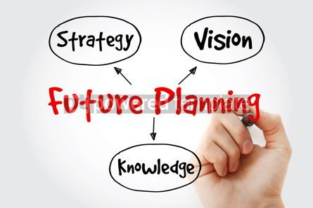 Business: Hand writing with marker Future planning (knowledge strategy v #10650