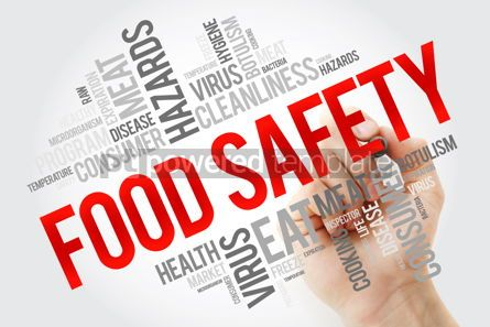 Education: Food Safety word cloud with marker concept background #10657