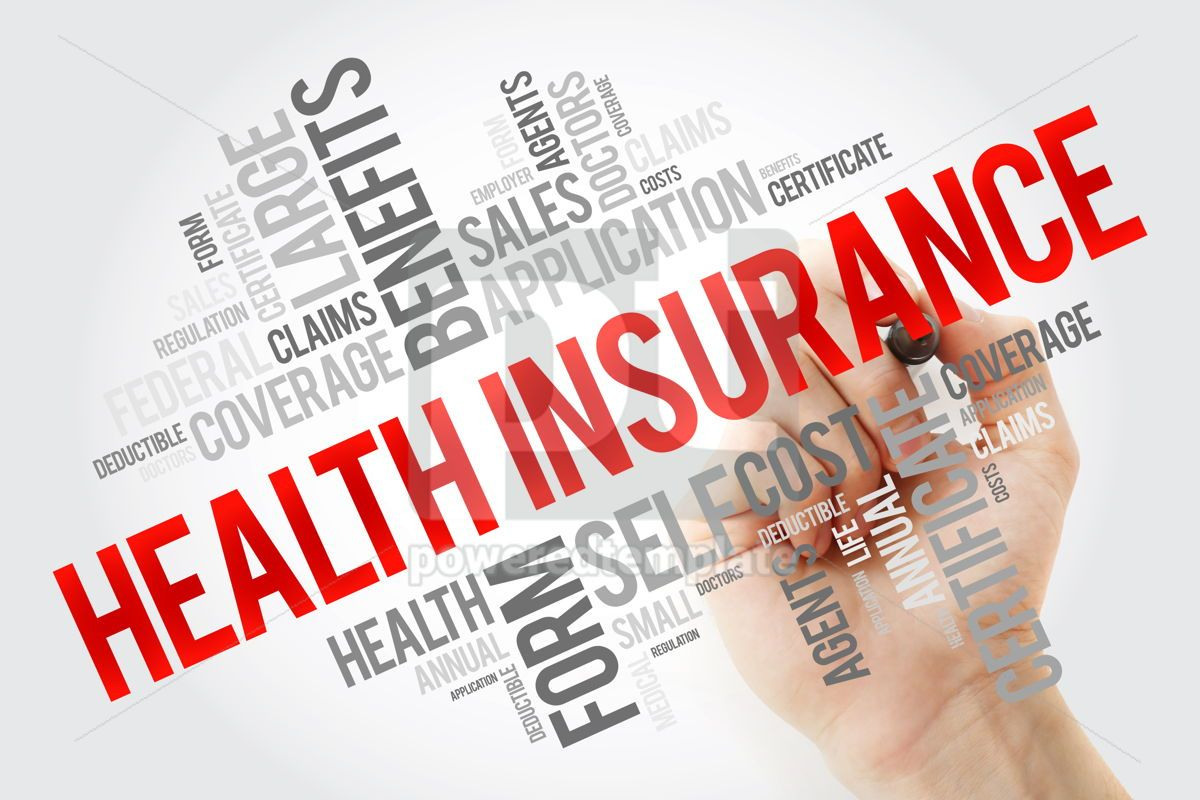Health Insurance word cloud collage with marker healthcare conc, 10659, Education — PoweredTemplate.com