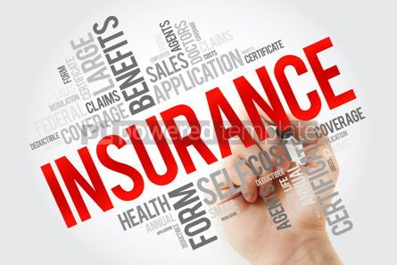 Education: Insurance word cloud collage with marker healthcare concept bac #10660