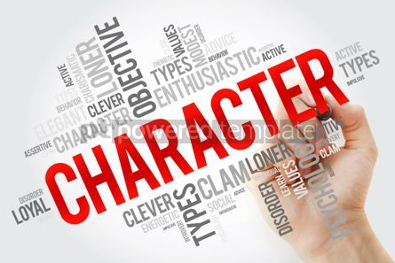 Education: CHARACTER word cloud collage with marker  social concept backgr #10664