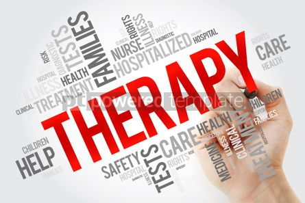 Education: Therapy word cloud collage with marker health concept backgroun #10667