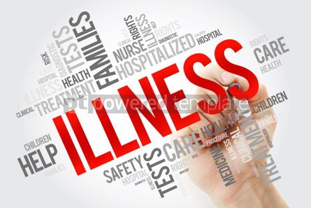 Education: ILLNESS word cloud collage with marker health concept backgroun #10668