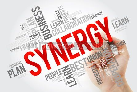 Education: Synergy word cloud collage with marker business concept backgro #10671