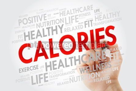 Health: CALORIES word cloud with marker health concept background #10685